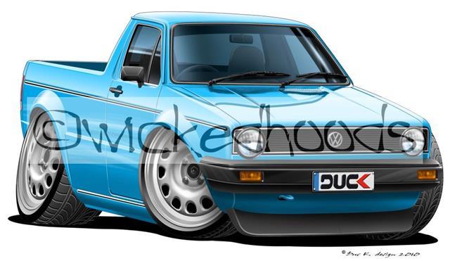 Wickedhoods Cartoon Car Hoovolkswagen Vw Golf Mk1