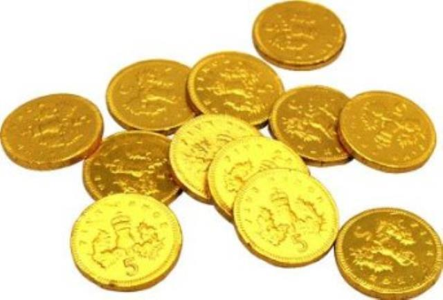 Details about * 5p & 10p British Gold Chocolate Coins Wedding Christmas Poker Foiled Pirate