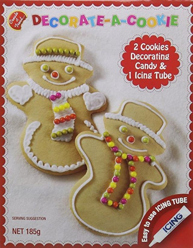 Christmas Cookie Decorating Kit.Details About Decorate A Cookie Snowman Kit Set 185g Christmas Gift Stocking Filler