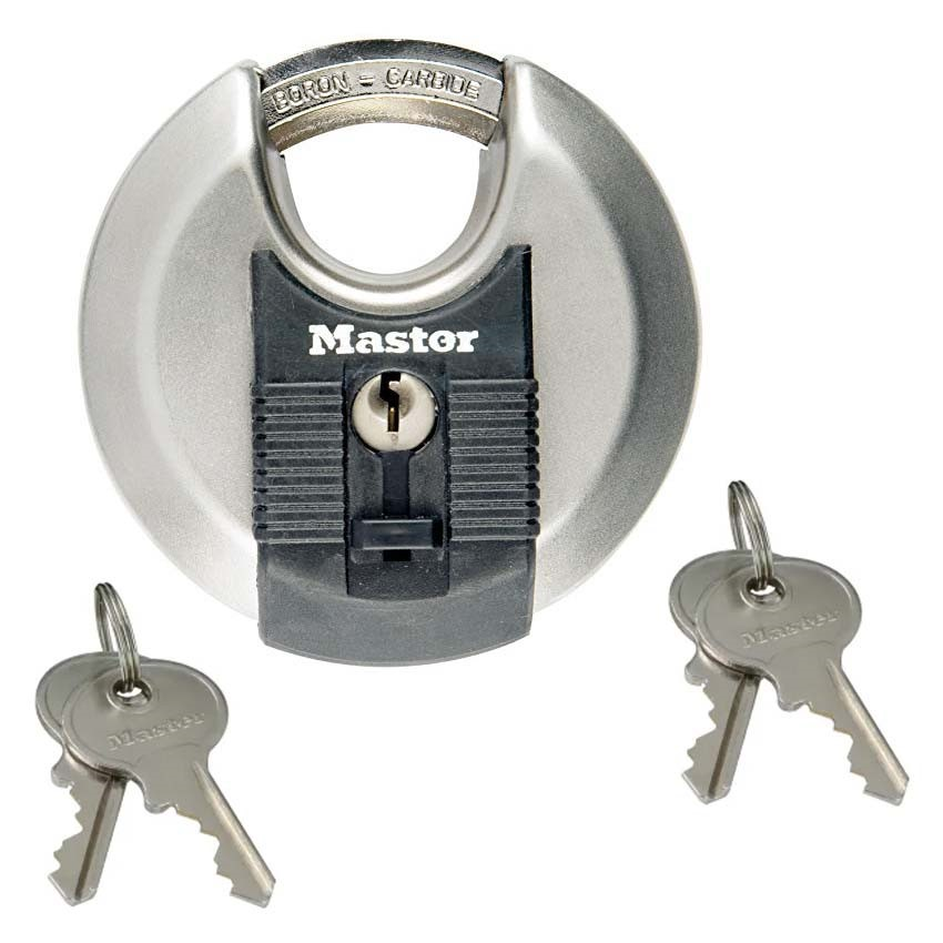 Master Lock Excell Stainless Steel Discus 70mm Padlock MLKM40