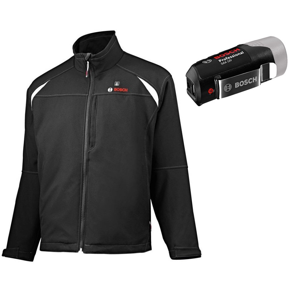 Bosch Professional Heated Jacket GHJ Solo without Batteries, 12//18A/Volt, Box V XS Black