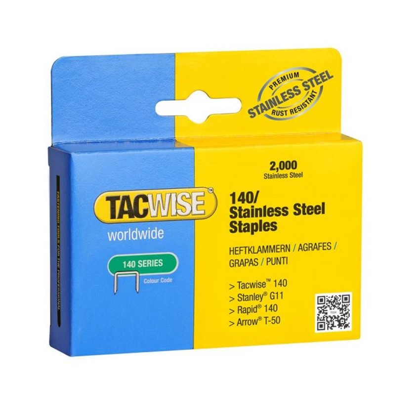 S T50 Staples acciaio A11 Staples RAPID /& TACWISE 140 Series Staples 8-14mm Galv