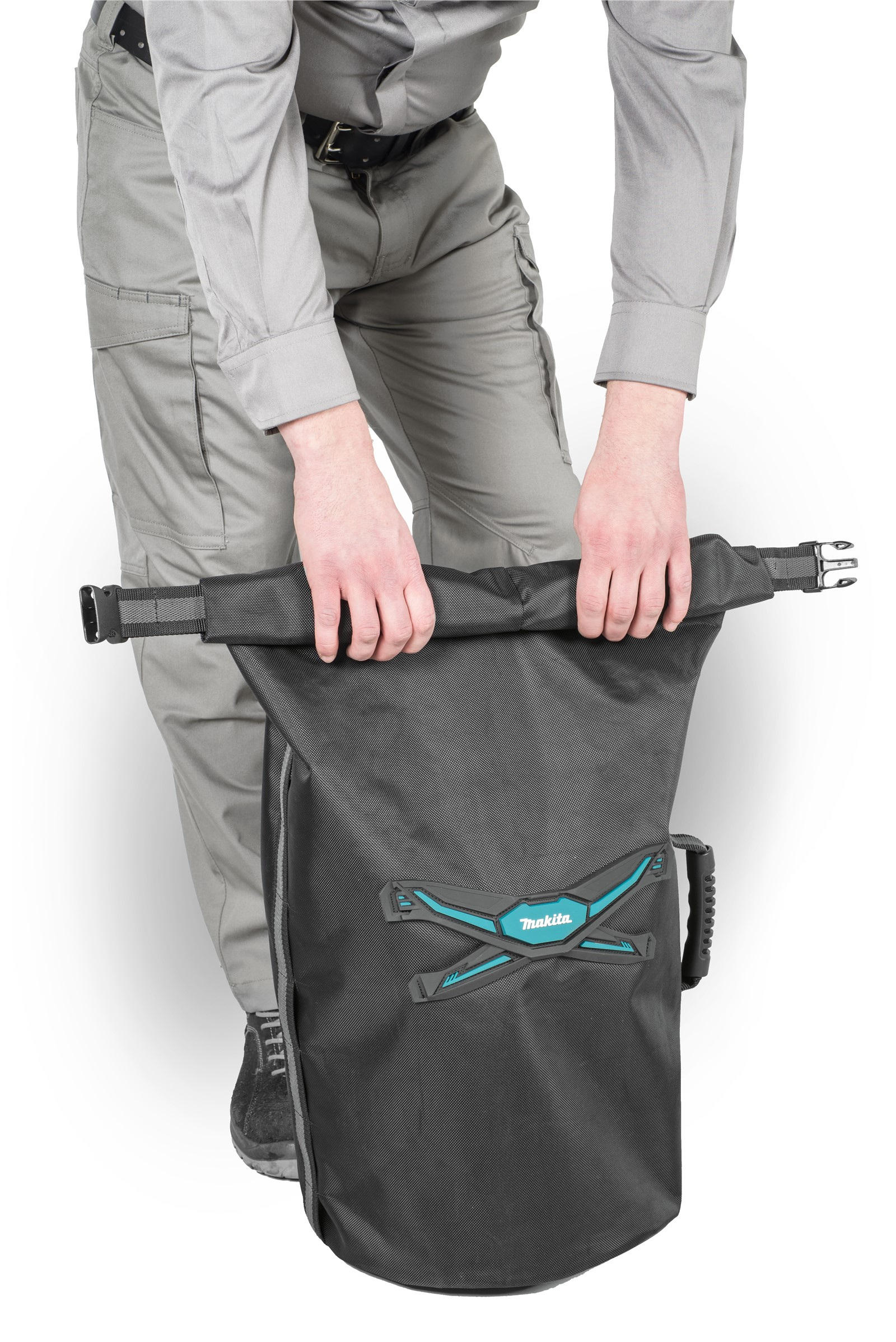 Makita E-05561 Roll Top All Weather Tube Tool Bag Holdall Strap Belt System