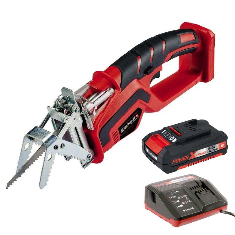 Einhell Power X Change GE GS18LI 18v Cordless Branch Pruning Saw 2ah Battery Kit