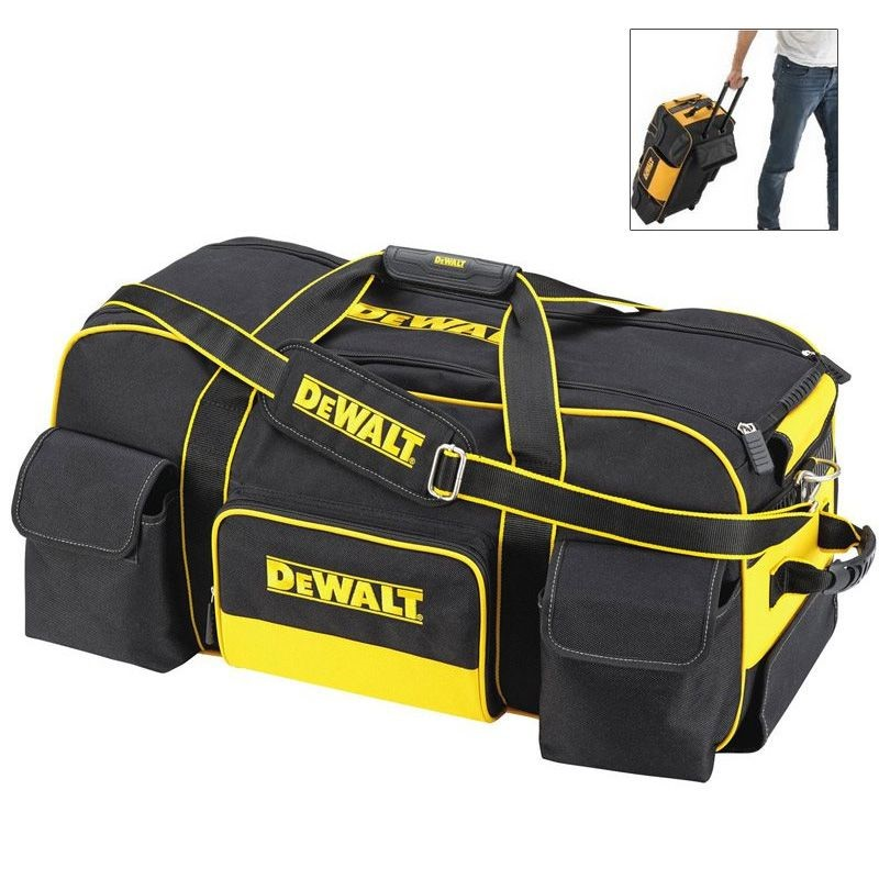 Gran trabajo pesado DEWALT DWST1-79210 bolsa de herramientas con ruedas y  asa de transporte 5fb8d420ff48