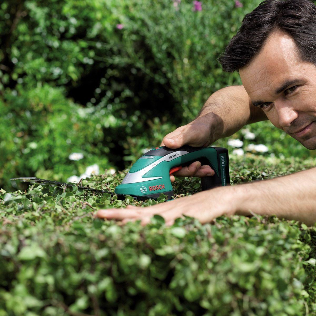Bosch Asb 108 Li 10 8v Cordless Garden Shrub Hedge Grass