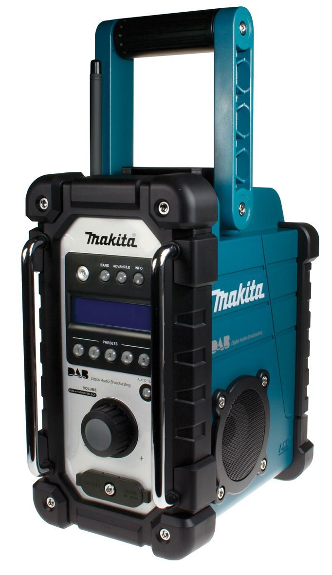makita site digital radio bmr104 dab blue 240v 7 2 18v rp. Black Bedroom Furniture Sets. Home Design Ideas