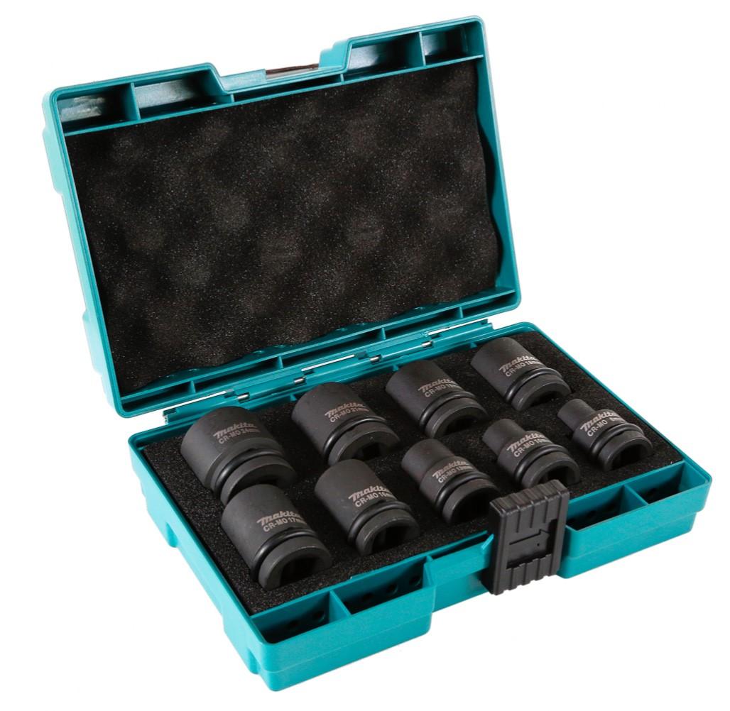 Black Makita D-41517 Wrench Impact Socket Set 1//2 Inch Drive 9 Piece 22 x...
