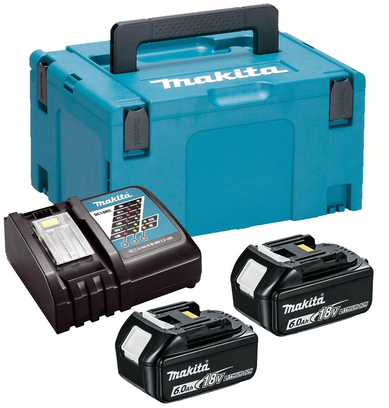 Origine Makita 2 x 4.0Ah Batterie Li-Ion avec étoile et Twin Chargeur Kit