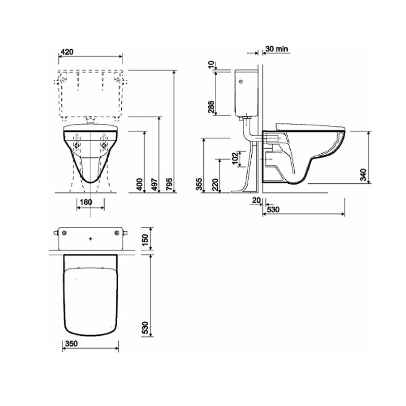 Geberit Duofix 1 12m Wc Toilet Frame Chrome Plate Wall Fixings