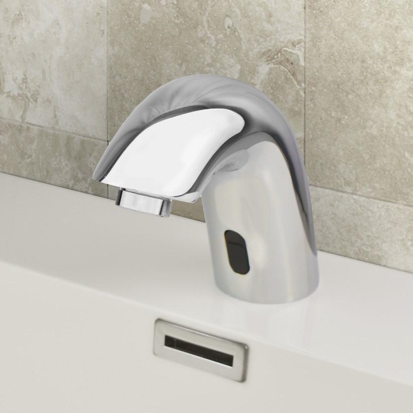 Infrared Sensor Activated Bathroom Modern Basin Monobloc Mixer Tap Chrome *I