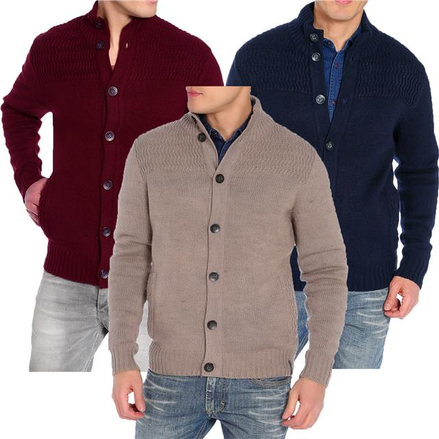 Mens Cardigan Tokyo Laundry IB 2057 /'Varsity/' Knitwear Jumper Cotton Cardi