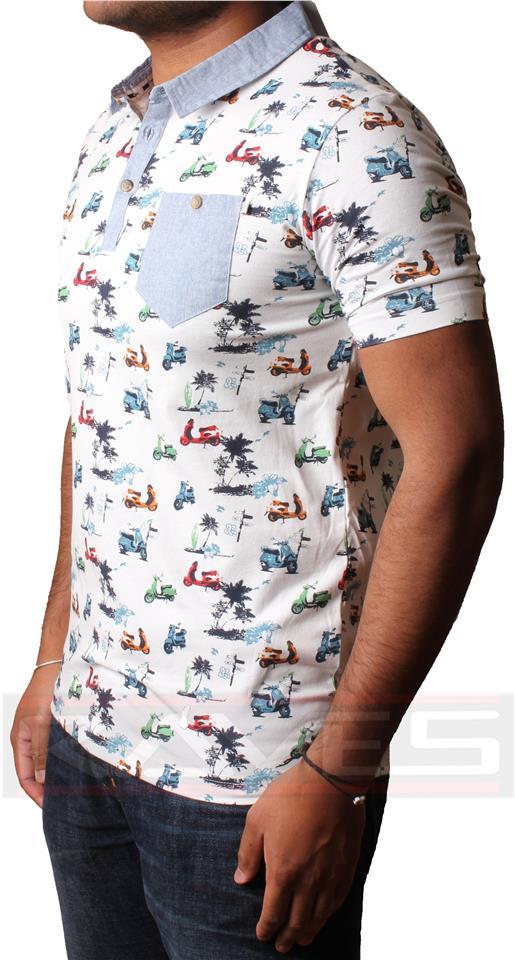 Mens D Code short sleeve Pique Polo Shirt