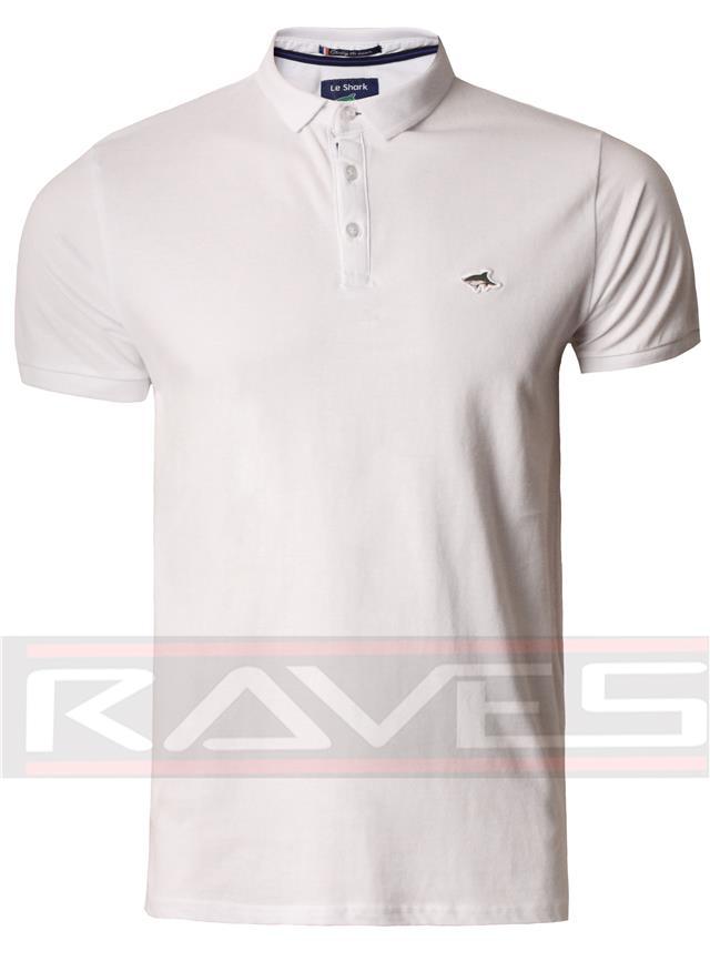 Homme Le Shark Polo T-shirt Tee Pique Homme Fit à manches courtes coton top Landor