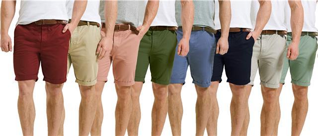 Threadbare Mens Chino Summer Casual Designer Knee Length Shorts MENTEKKA