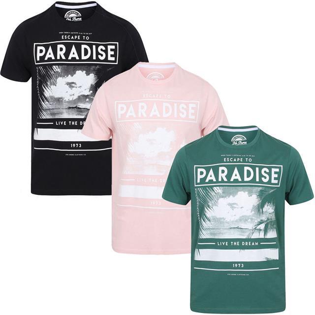 Mens T-Shirt South Shore Short Sleeved Print T-shirt Cotton Tee GUITAR FESTIVAL