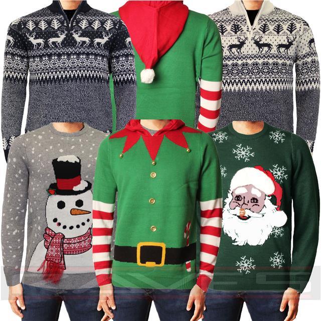 Details about Christmas Jumper Xmas Novelty 3D Sweater Santa Elf Snowman Knitwear Threadbare