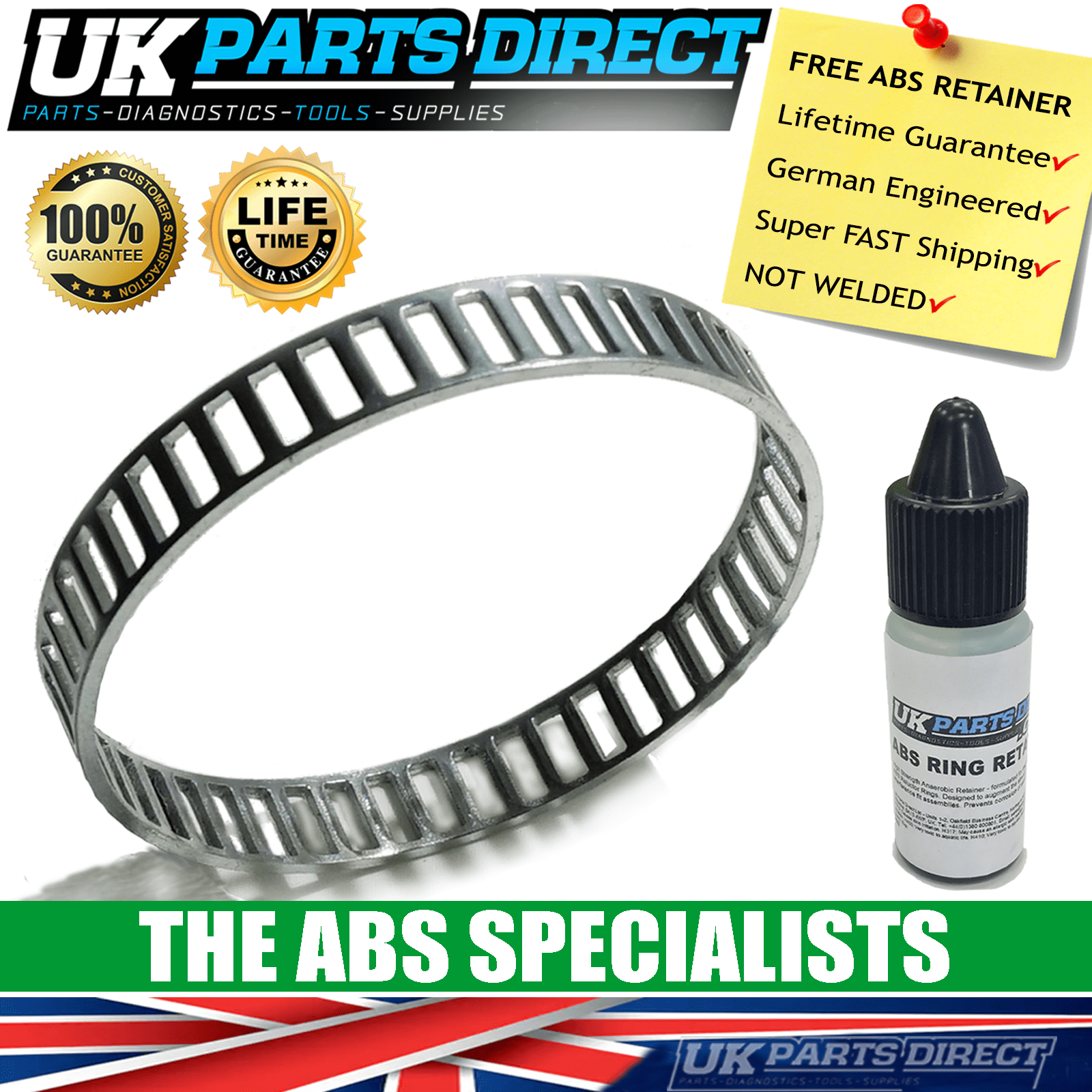 Audi A4 Quattro ABS Reluctor Ring Rear *FREE RETAINER* 1995-2005
