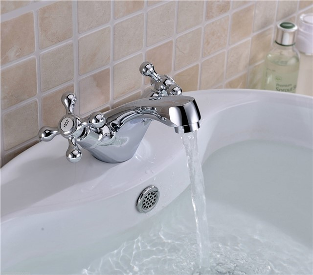 KANO TRADITIONAL CURVED MONO BASIN MIXER TAP PREMIUM SOLID BRASS *FREE WASTE*